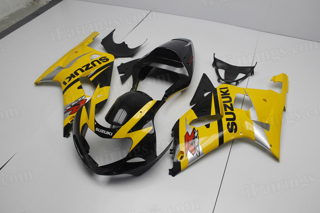 2000 2001 2002 Suzuki GSXR1000 yellow and black fairing kits.