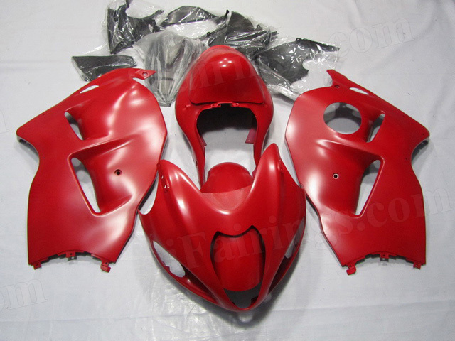 1999 to 2007 Suzuki GSXR 1300 Hayabusa matte red fairing kits.