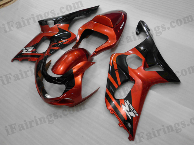 2001 2002 2003 Suzuki GSXR600/750 red and black fairing sets.