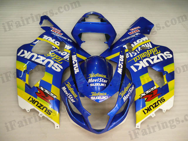 2004 2005 GSXR600/750 Telefonica Movistar fairings, GSXR600/750 replacement bodywork
