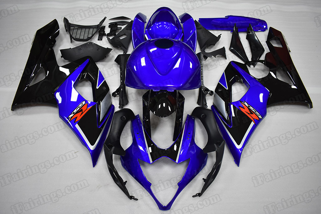2005 2006 Suzuki GSX-R 1000 Blue/Black Fairing Kit