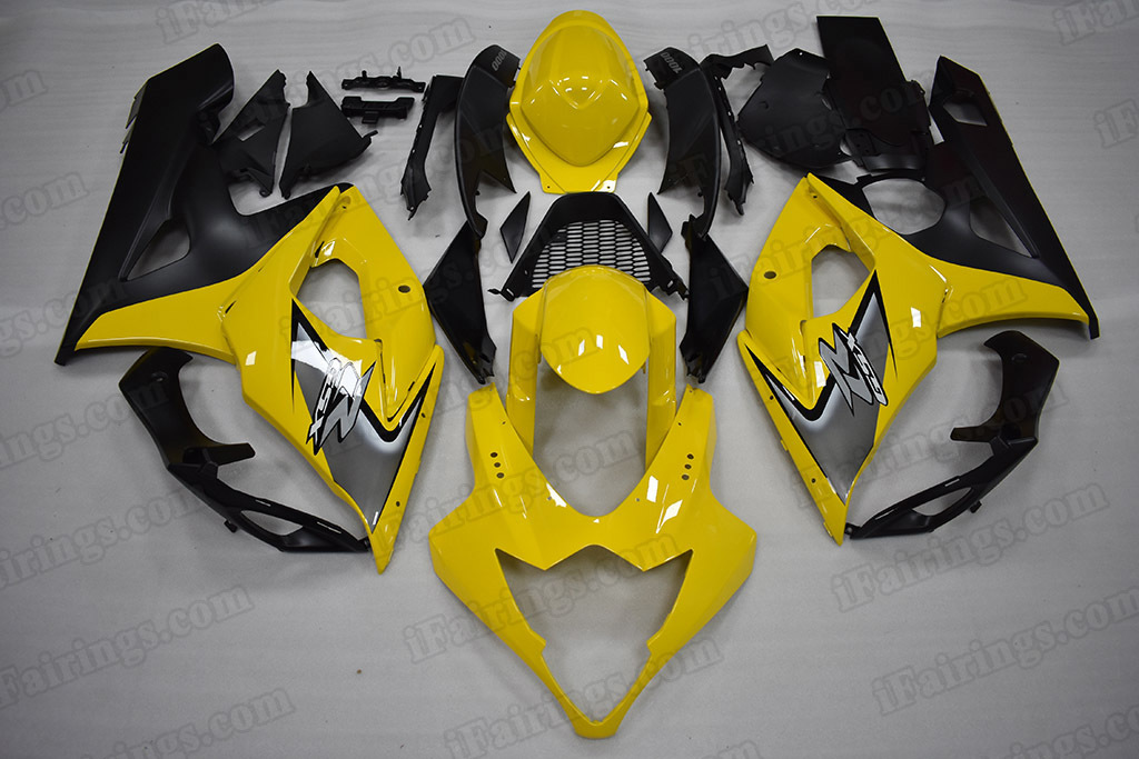2005 2006 Suzuki GSX-R 1000 Yellow/Black Fairing Kit
