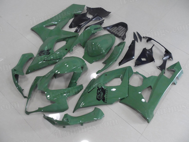 2005 2006 Suzuki GSXR 1000 green paint fairing kits.