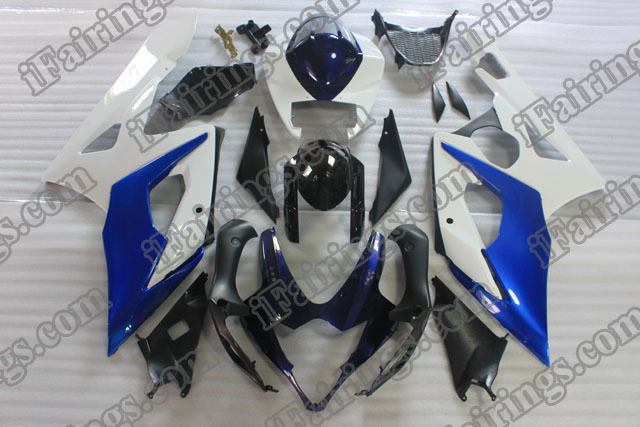 2005 2006 GSXR1000 blue and white fairings