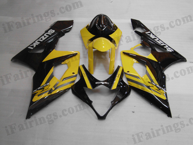 2005 2006 Suzuki GSXR1000 yellow and black fairing kits.