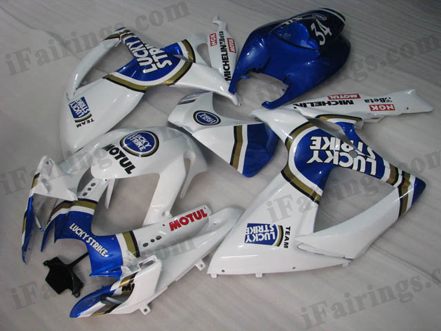 2006 2007 GSXR600/750 Lucky Strike fairings, GSXR600/750 2006 2007 replacement body kits.