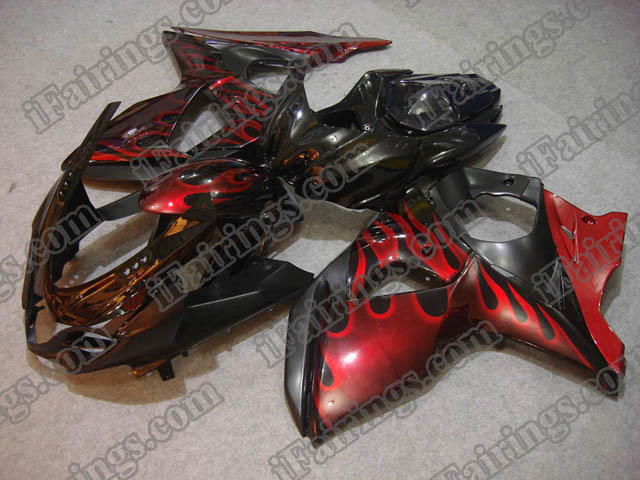 2009 2010 2011 2012 2013 2014 GSXR1000 red flame fairings