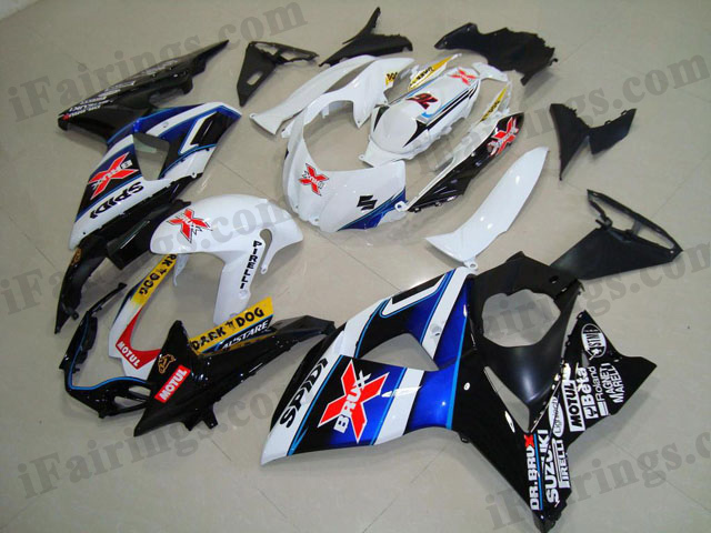 2009 2010 2011 2012 2013 2014 GSXR1000 Viru white and black fairings