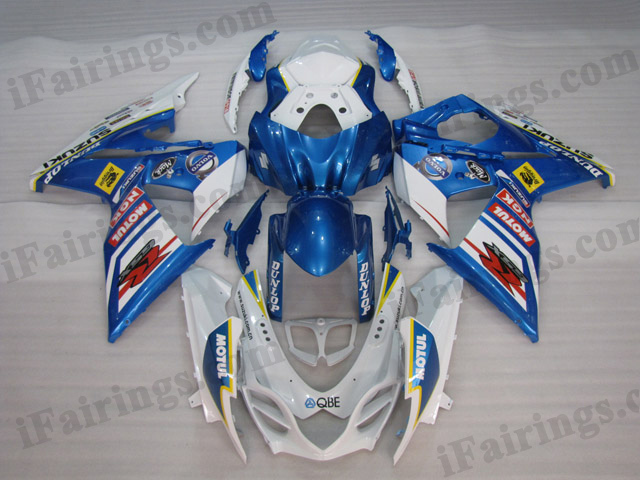 2009 2010 2011 2012 2013 2014 Suzuki GSXR1000 white and blue factory fairing kits
