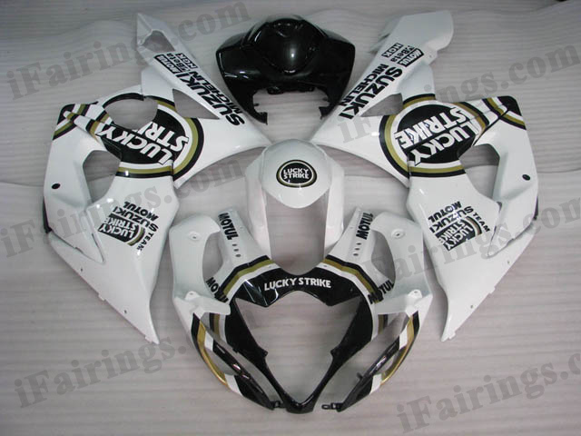 aftermarket fairings for 2005 2006 GSXR1000 Lucky Strike graphic.
