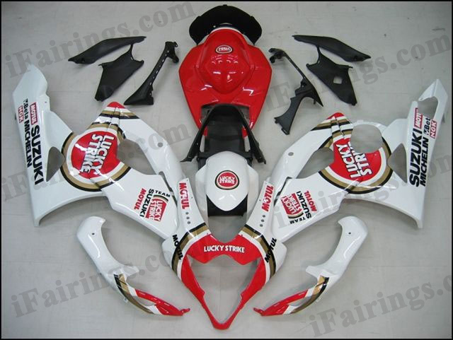 aftermarket fairings for 2005 2006 GSXR1000 Lucky Strike graphics.
