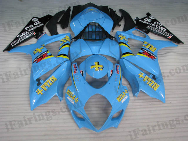 aftermarket fairings for 2007 2008 GSXR1000 Rizla graphic.