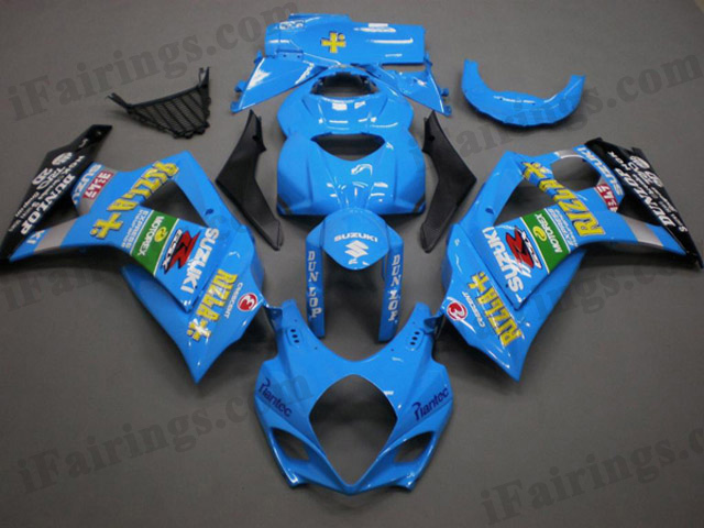 aftermarket fairings for 2007 2008 GSXR1000 Rizla graphics.