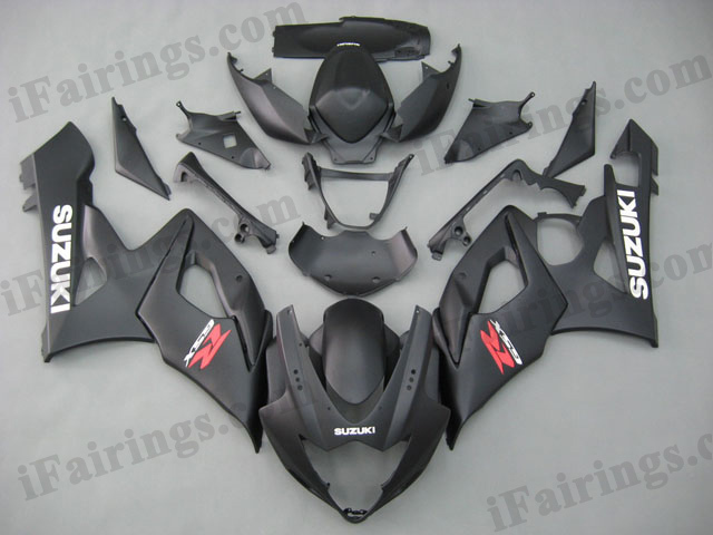 gixxer 2005 2006 GSXR1000 matt/flat black fairings