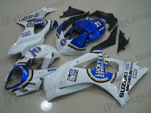 gixxer 2007 2008 GSXR1000 lucky strike fairings.