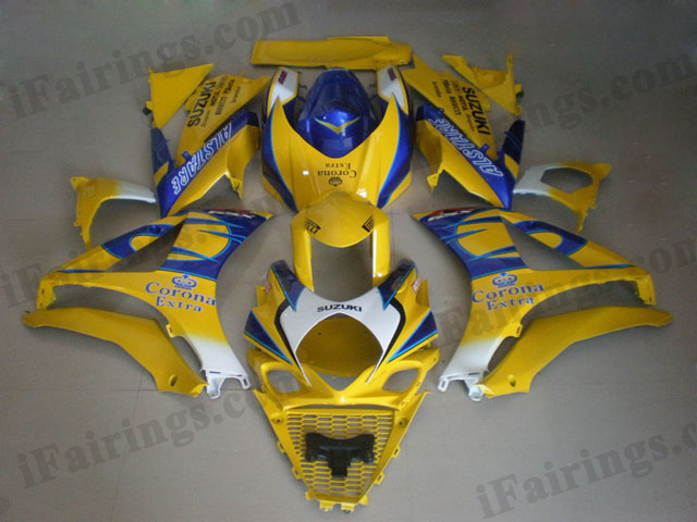 gixxer 2007 2008 GSXR1000 yellow corona fairings