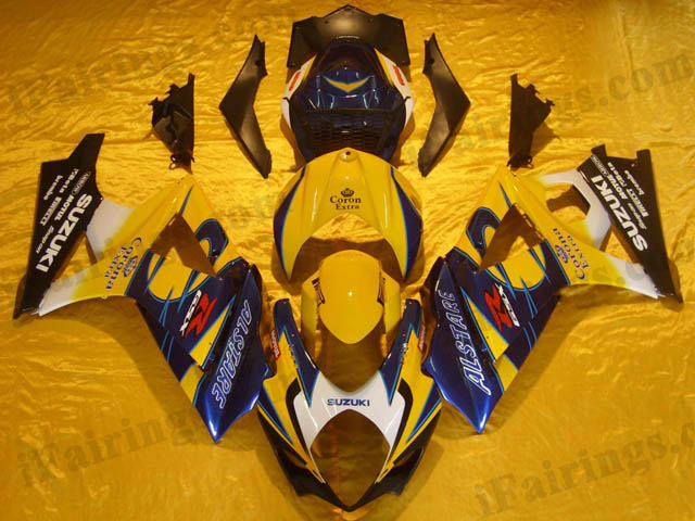 Fairings for 2007 2008 GSXR1000 Corona Extra graphic.