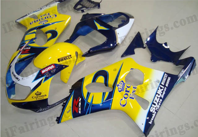 gixxer 2000 2001 2002 GSXR1000 yellow corona fairings