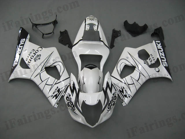 gixxer 2003 2004 GSXR1000 white corona fairings
