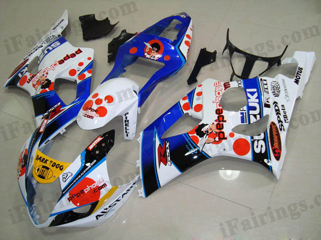 gixxer 2003 2004 GSXR1000 pepe phone fairings