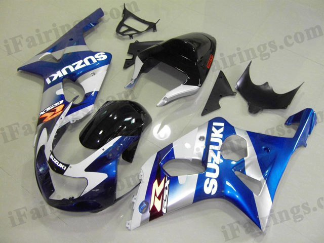 GSXR1000 2000 2001 2002 blue/white/black fairing sets