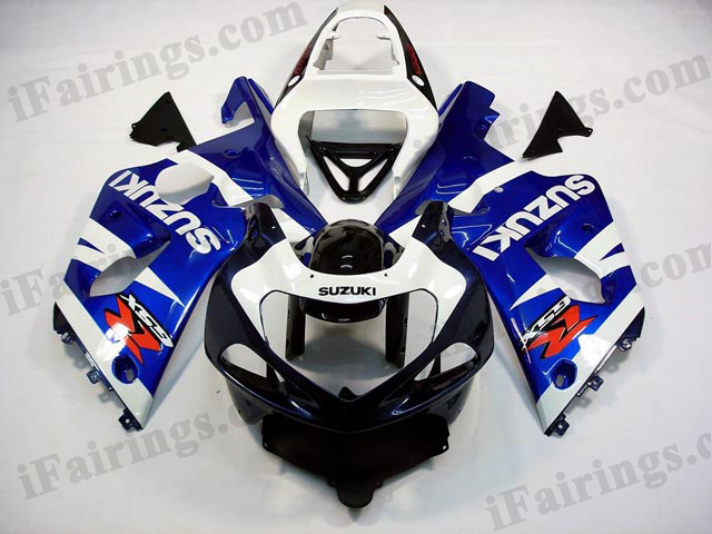 GSXR1000 2000 2001 2002 blue/white/black fairings, 2000 2001 2002 GSXR1000 graphics.