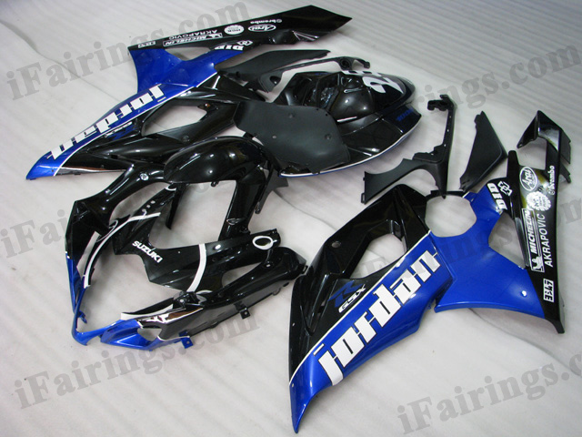 GSXR1000 2005 2006 Jordan fairings, 2005 2006 GSXR1000 Jordan decals.