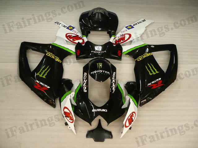GSXR600/750 2008 2009 2010 monster fairings, 2008 2009 GSXR600/750 monster symbol fairings.