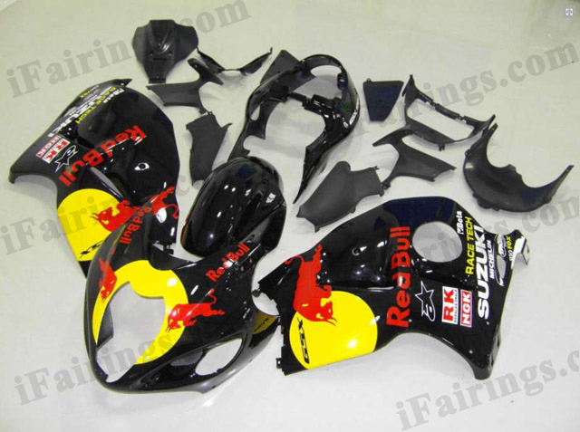 hayabusa 1999 to 2007 GSXR1300 red bull fairings.