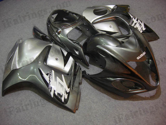hayabusa 2008 to 2017 GSXR1300 gray and silver fairings