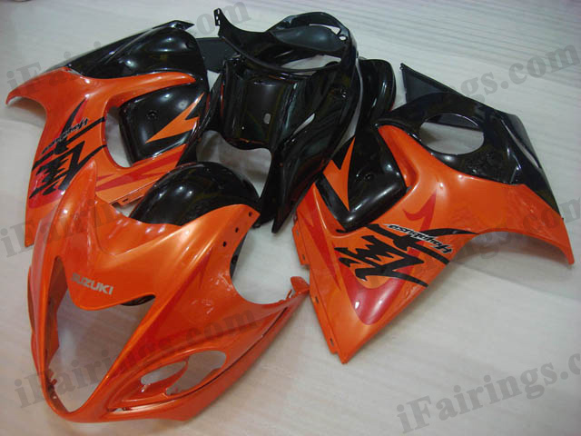 hayabusa 2008 to 2017 GSXR1300 orange and black fairings.