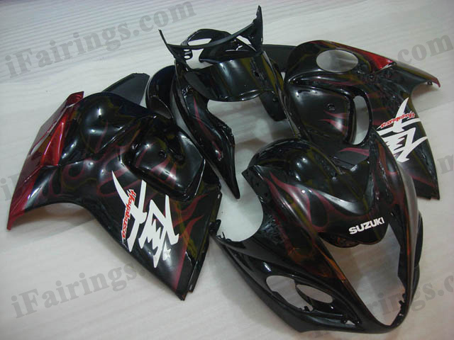 hayabusa 2008 to 2017 GSXR1300 red flame fairings