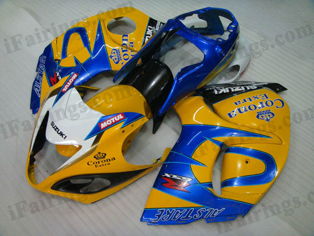 hayabusa 2008 to 2017 GSXR1300 yellow corona fairings.