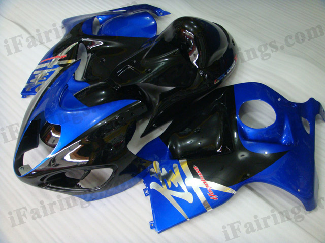 Hayabusa fairings for GSXR1300 1999 to 2007 blue and black.