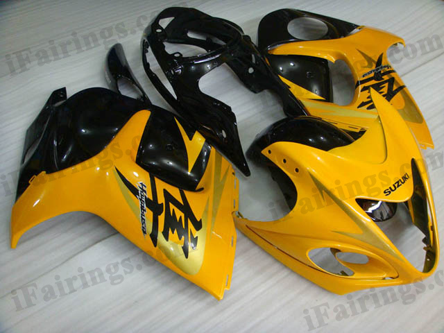 hayabusa 2008 to 2017 GSXR1300 yellow and black fairings