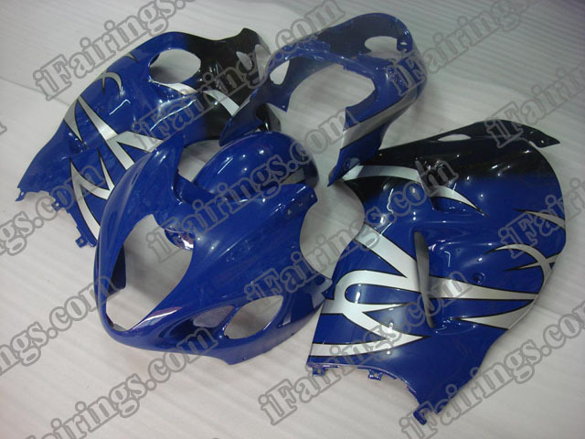 Hayabusa fairings for GSXR1300 1999 to 2007 blue/black with silver strips.