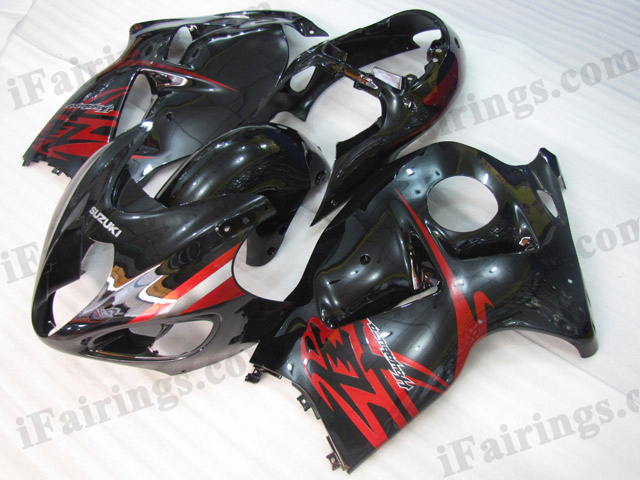 Hayabusa fairings for GSXR1300 1999 to 2007 glossy black.