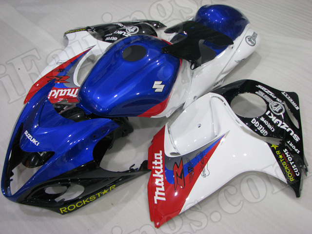 Motorcycle fairings for 2008 to 2017 Suzuki Hayabusa GSXR 1300 blue,red, white and black.