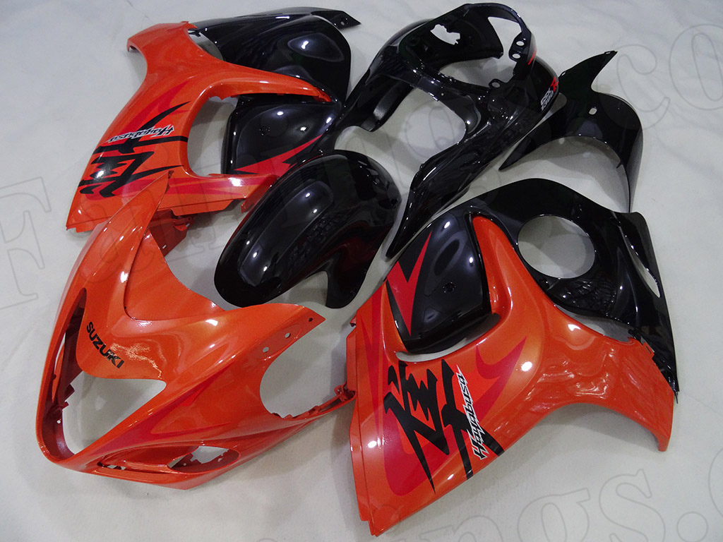Motorcycle fairings for 2008 to 2017 Suzuki Hayabusa GSXR1300 orange/black