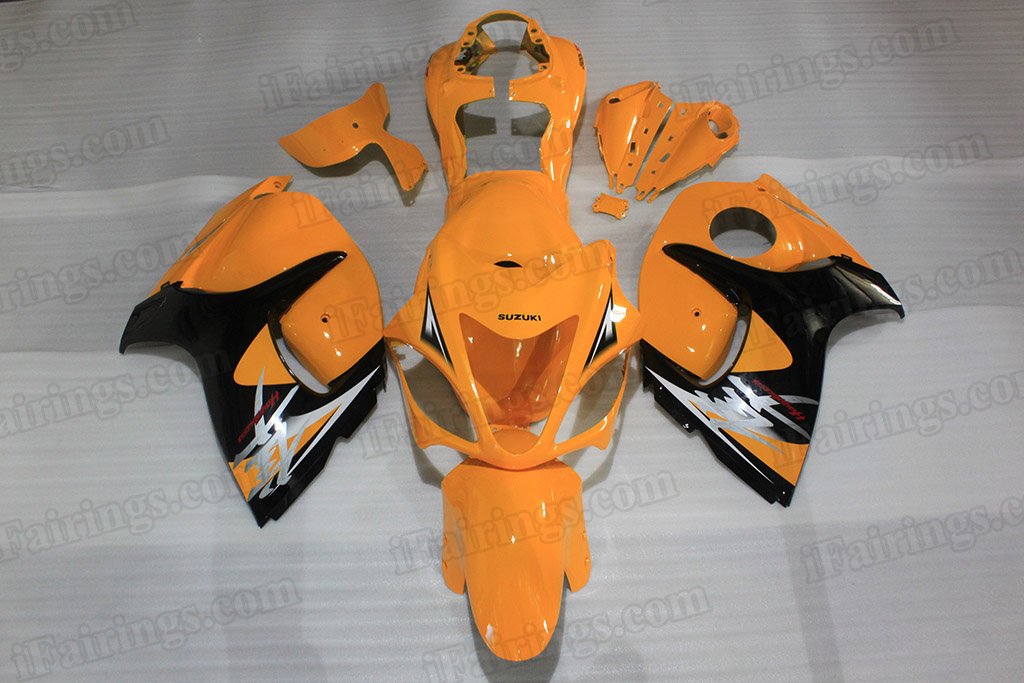 Motorcycle fairings for 2008 to 2017 Suzuki Hayabusa GSXR1300 yellow/black