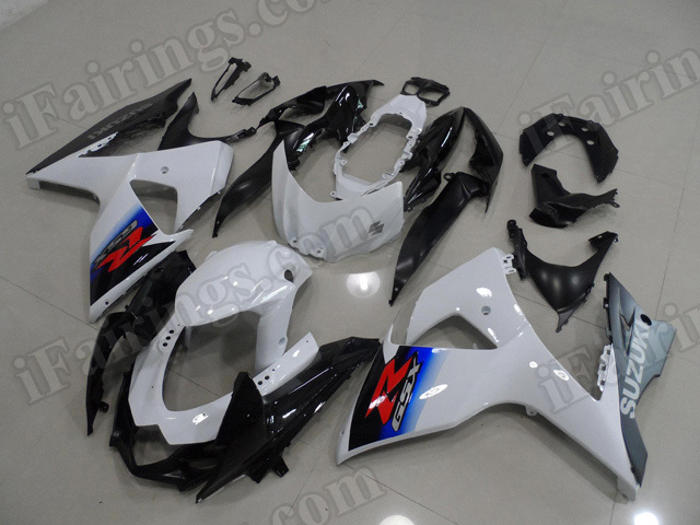 Motorcycle fairings/body kits for 2009 to 2014 Suzuki GSXR1000 what and black.