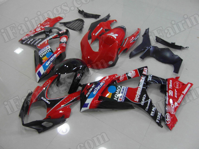 Motorcycle fairings/bodywork for 2007 2008 Suzuki GSXR1000 Yoshimura replica.