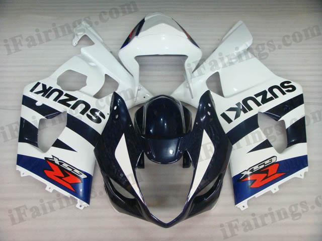 Replacement fairing kits for 2003 2004 GSXR1000 blue/white
