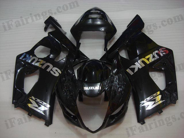 Replacement fairing kits for 2003 2004 GSXR1000 glossy black