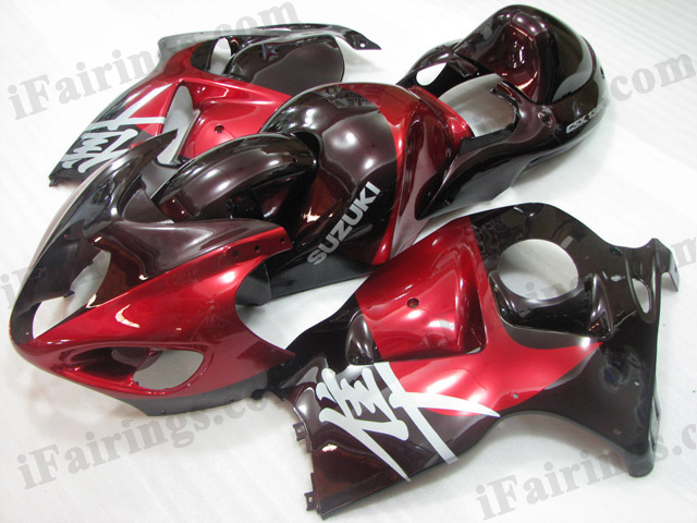 Suzuki GSXR1300 Hayabusa 1999 to 2007 red fairing kits.