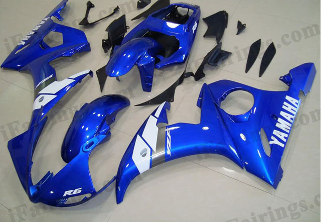 2003 2004 2005 YZF R6 oem matched blue fairings