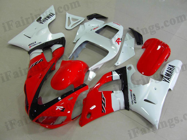 1998 1999 YZF-R1 candy red and white fairings