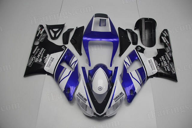 1998 1999 Yamaha YZF R1 white/blue/black fairing kits.