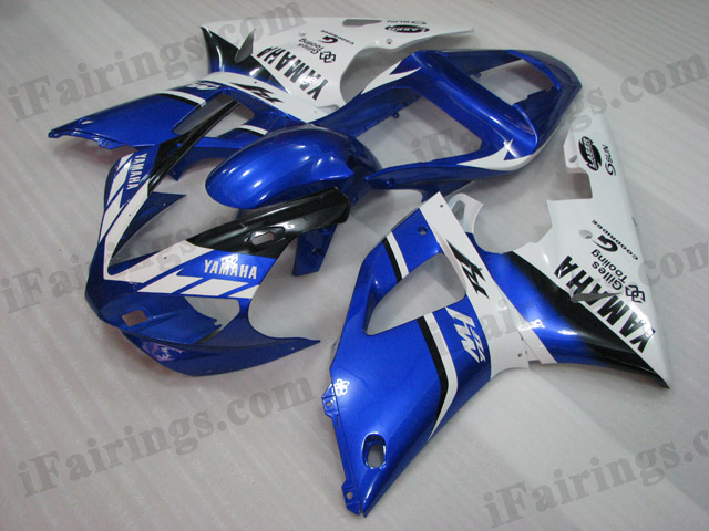 2000 2001 Yamaha YZF-R1 blue and white fairing sets.