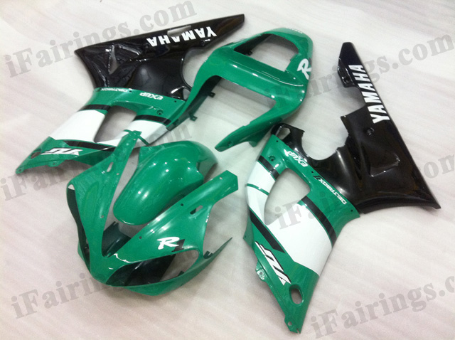 2000 2001 Yamaha YZF-R1 green, white and black fairing kits.